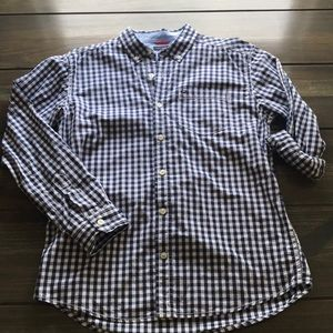 Boys Tommy Hilfiger Navy/White Plaid Dress Shirt